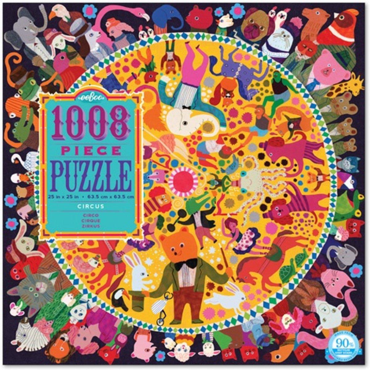 Eeboo Puzzel Familie: circus 1008 stukjes kopen