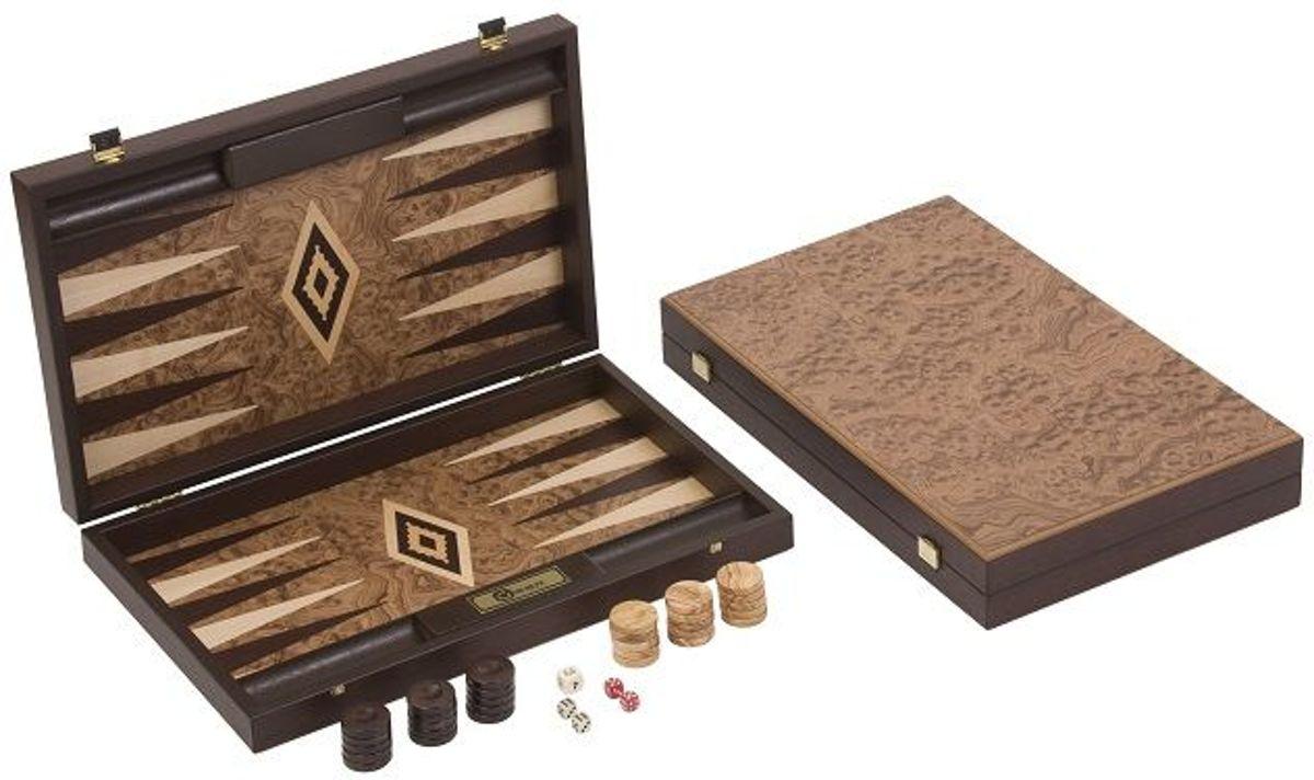 Extreem Exclusieve Walnoot houten Backgammon Set