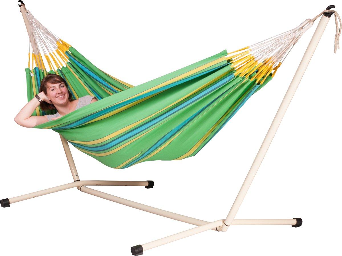 Hangmatset: 2-persoons hangmat CURRAMBERA kiwi + 2-persoons hangmat Standaard NEPTUNO