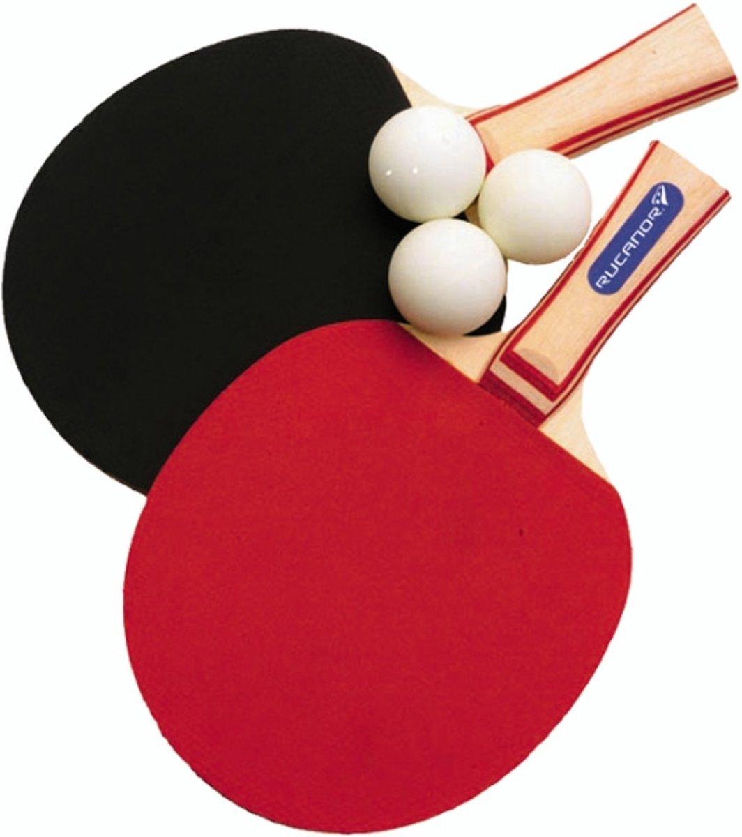 Rucanor Super Tafeltennis Batjes Set - Rood