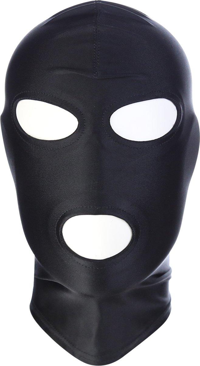 Foto van Banoch - Mask/3 hole Black - Spandex Masker - BDSM- Zwart