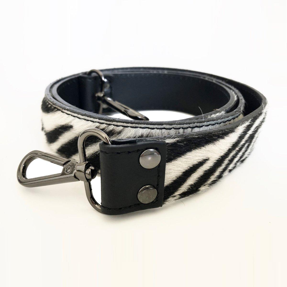 TOUTESTBELLE Schouderband, schouderriem tas, tassen riem los leer haar, vacht zebra