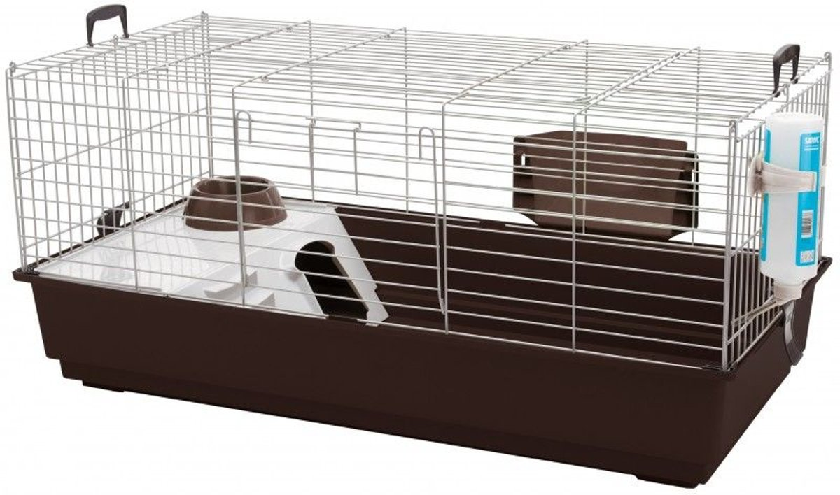 Savic konijnenkooi nero 3 antraciet