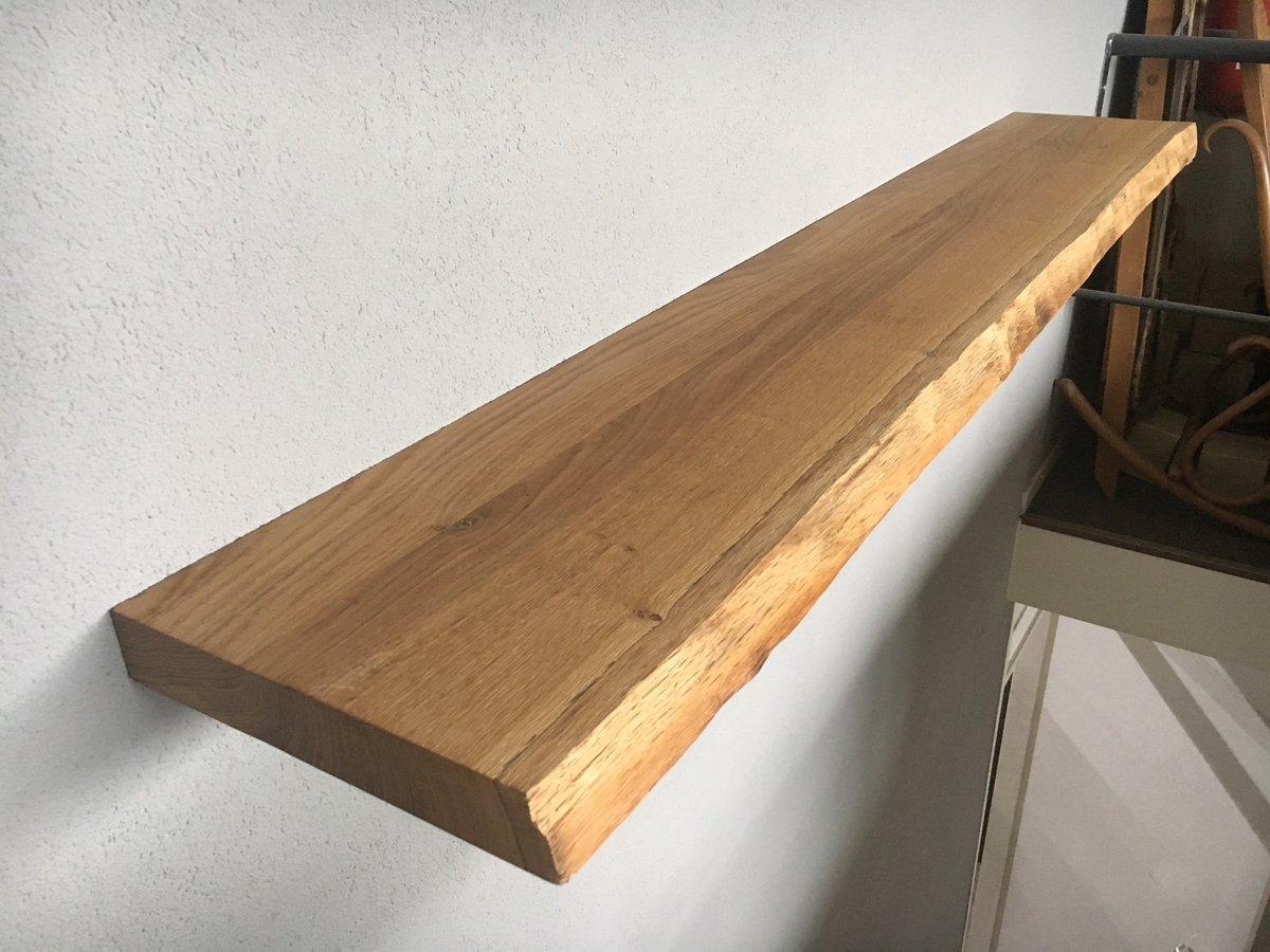 Planken Bevestigen Aan De Muur.Bol Com Boomstam Eiken Wandplank Zwevende Boekenplank