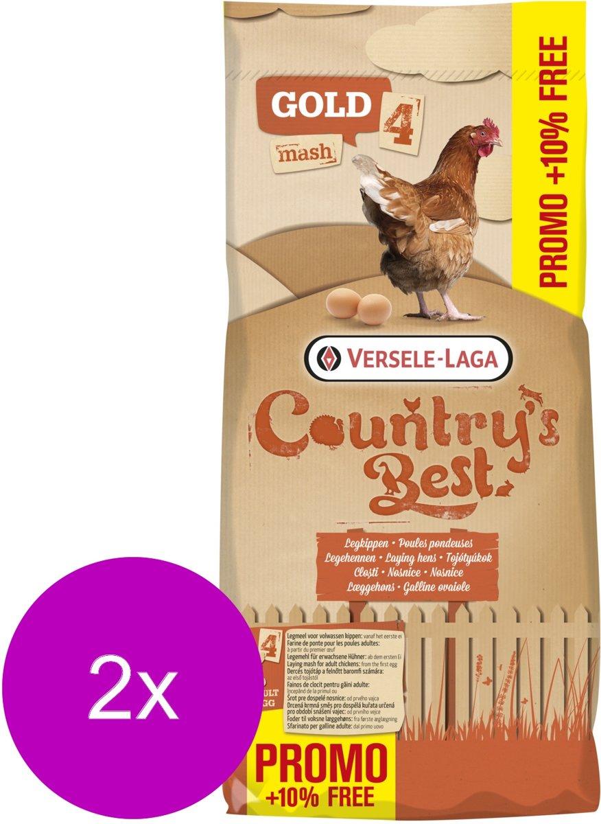 Versele-Laga Country`s Best Gold 4 Mash Legmeel - Kippenvoer - 2 x 20+2 kg Promo