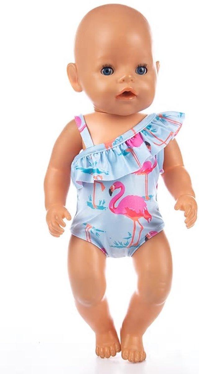 Badpak voor pop zoals baby born - Poppenkleding poppen tot 43 cm