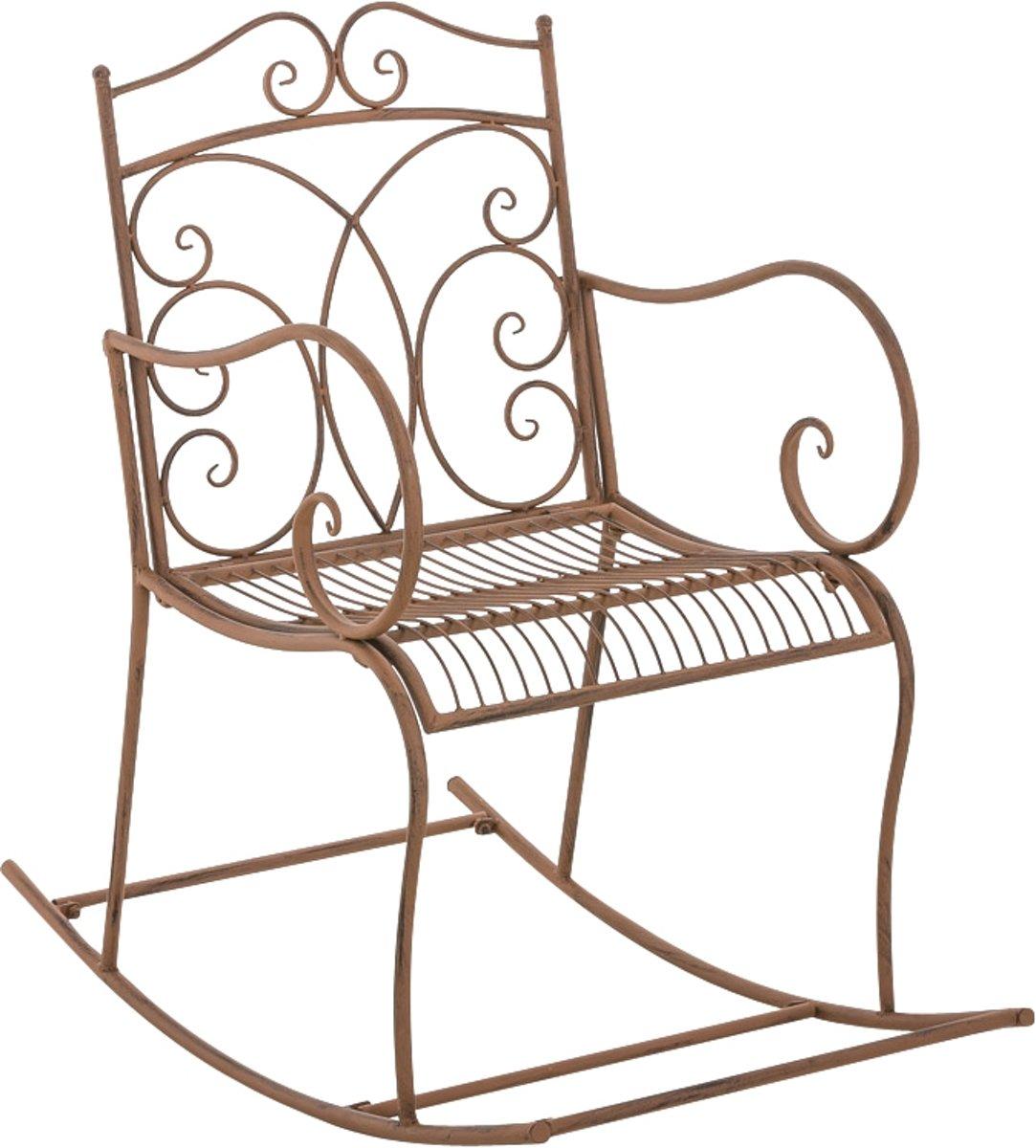 Clp Schommelstoel EDITH, tuinstoel, terrasstoel, balkonstoel, vintage, country live stijl, retro, nostalgisch, landhuisstijl, relaxstoel - antiek-brui