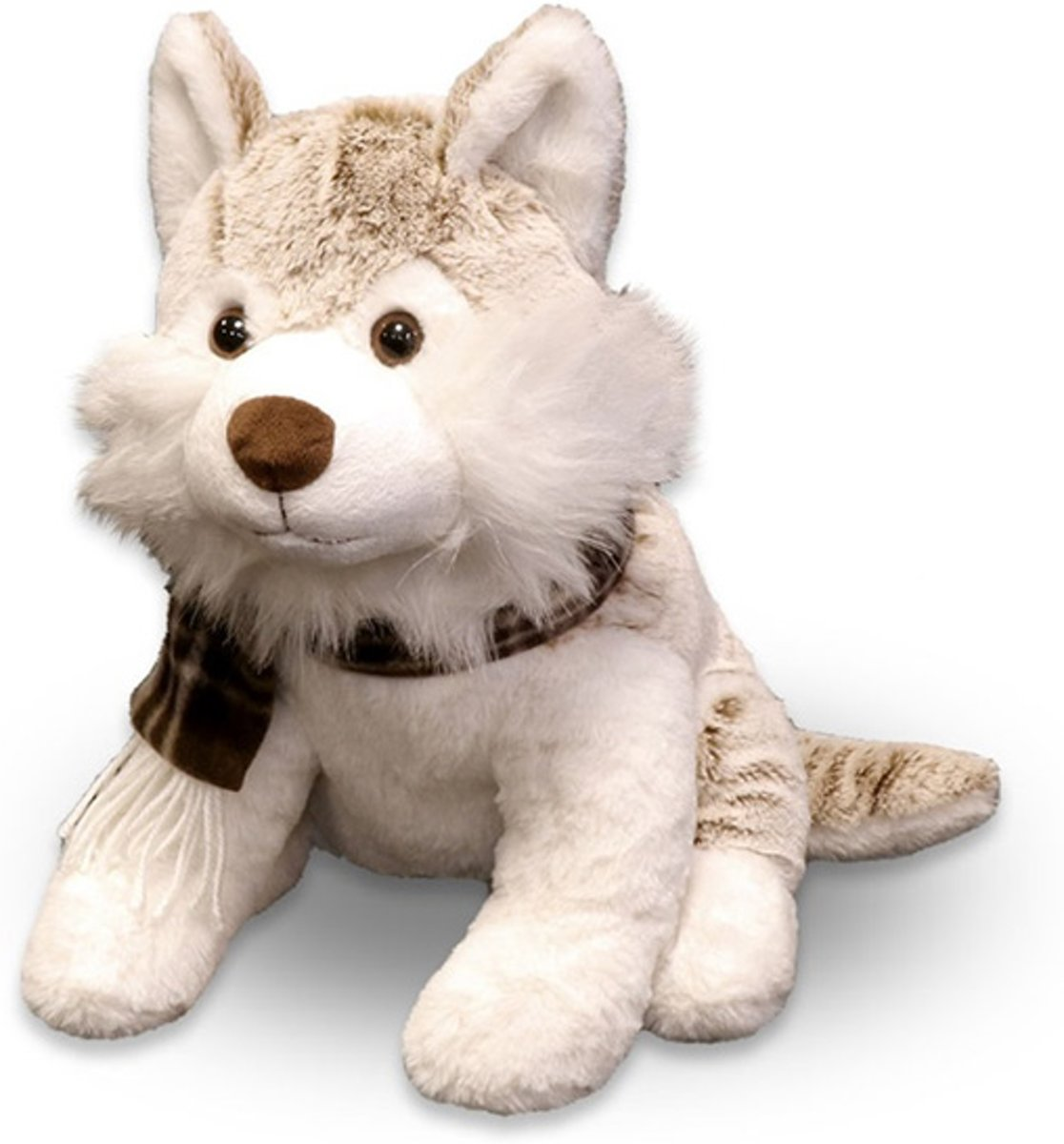 Unique Living Husky Plush - Knuffeldier - 32 cm - Bruin