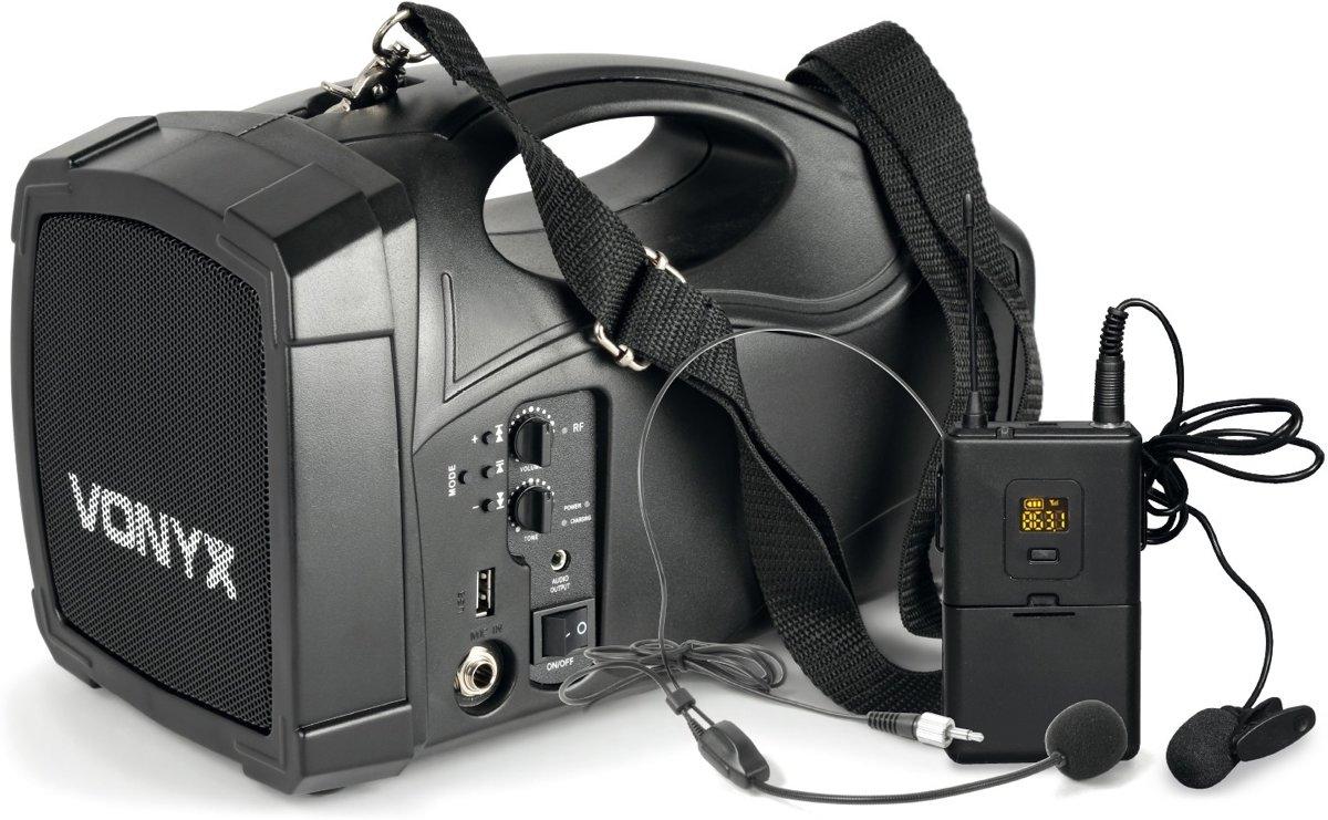 Vonyx ST012 Draagbaar omroepsyteem met o.a. headset microfoon en bluetooth kopen