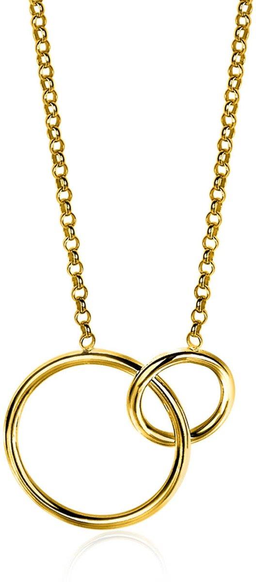 Zinzi Jewels Goudkleurige Ketting  (Lengte: 42.00-45.00 cm) - Goud