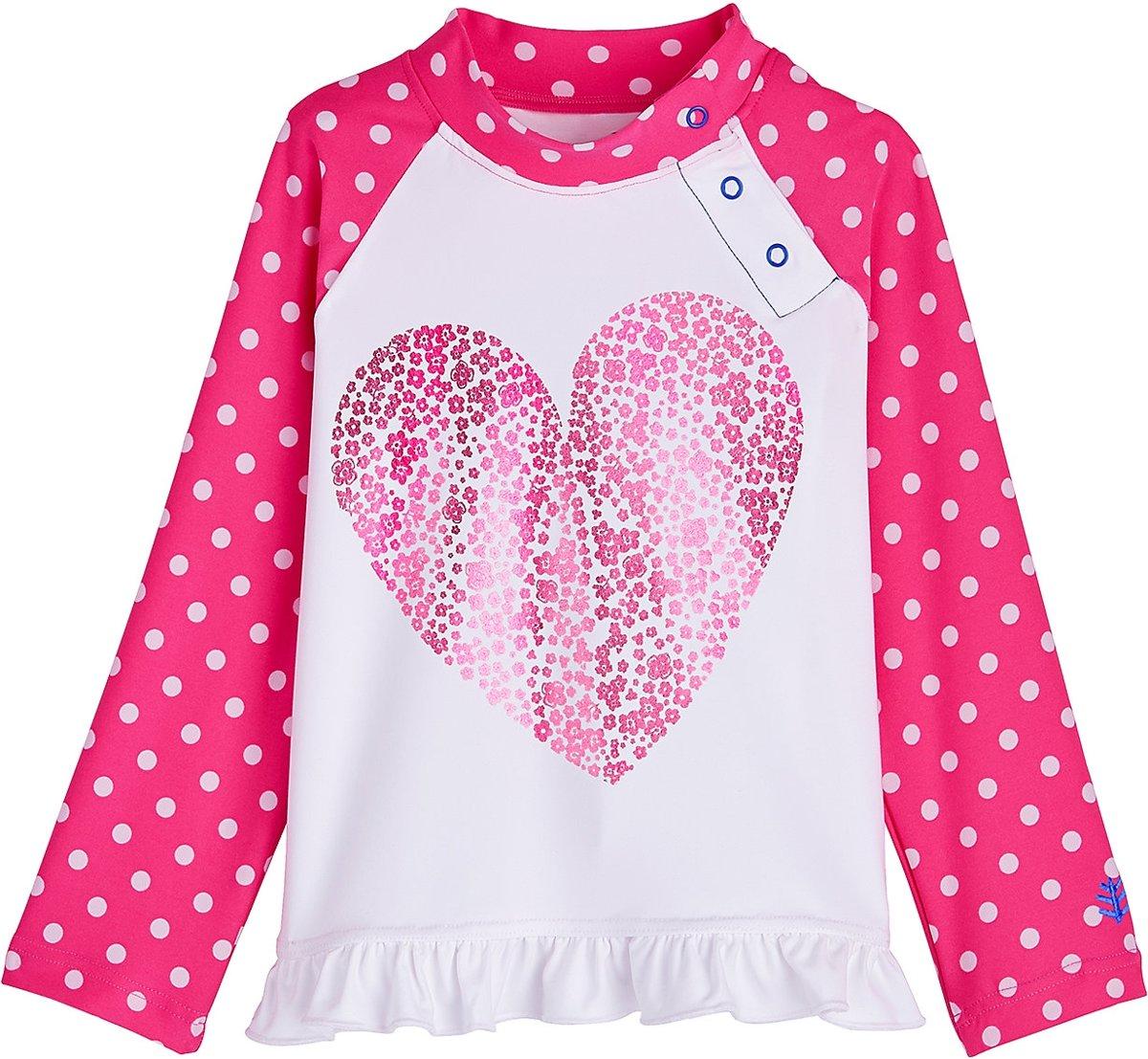 20f9c7c97cf160 bol.com | Coolibar UV zwemshirt Baby's & Peuters Floral Heart - Roze - Maat  2 jaar