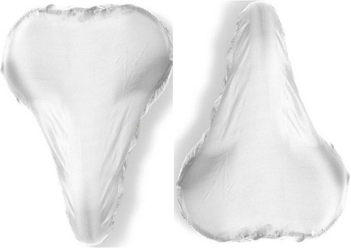 2x Witte zadelhoes waterdicht - Voordelige zadelhoezen voor de fiets kopen