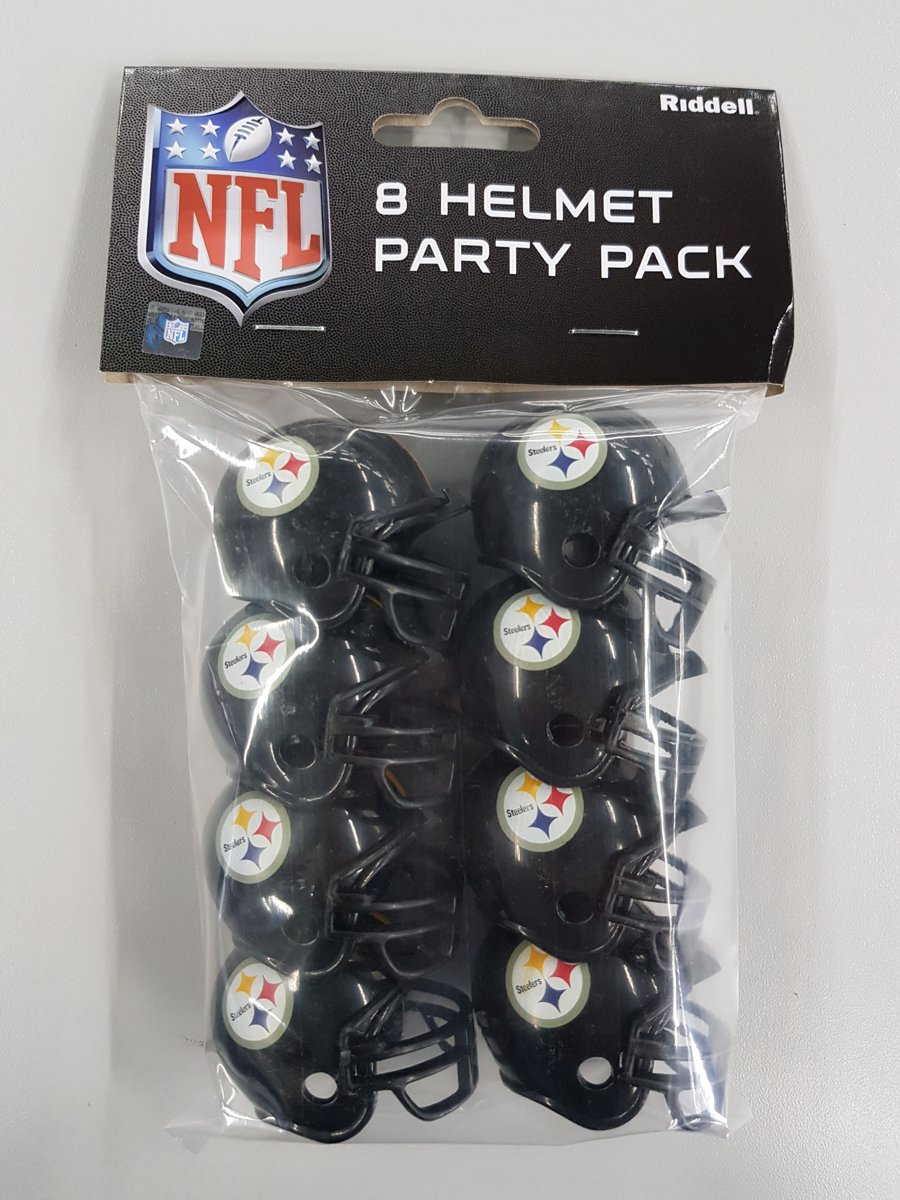 Riddell Pittsburgh Steelers American Football Helm Party Pack