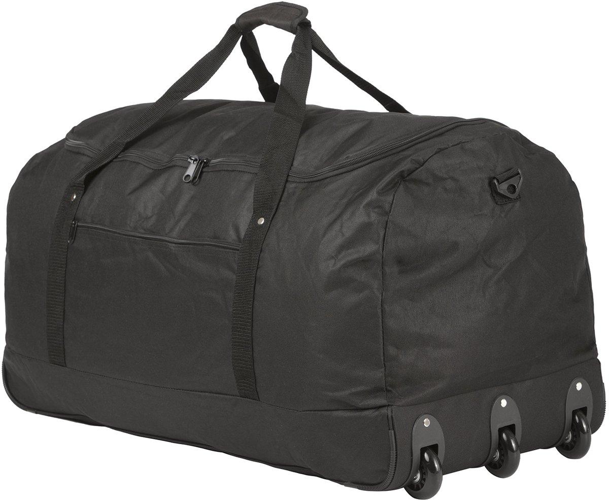 TravelZ - Opvouwbare wieltas - Reistas opvouwbaar met wielen - 100 liter - Zwart kopen