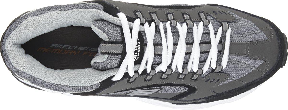 Skechers Stamina Cutback Heren Sneakers Grijs Maat 41