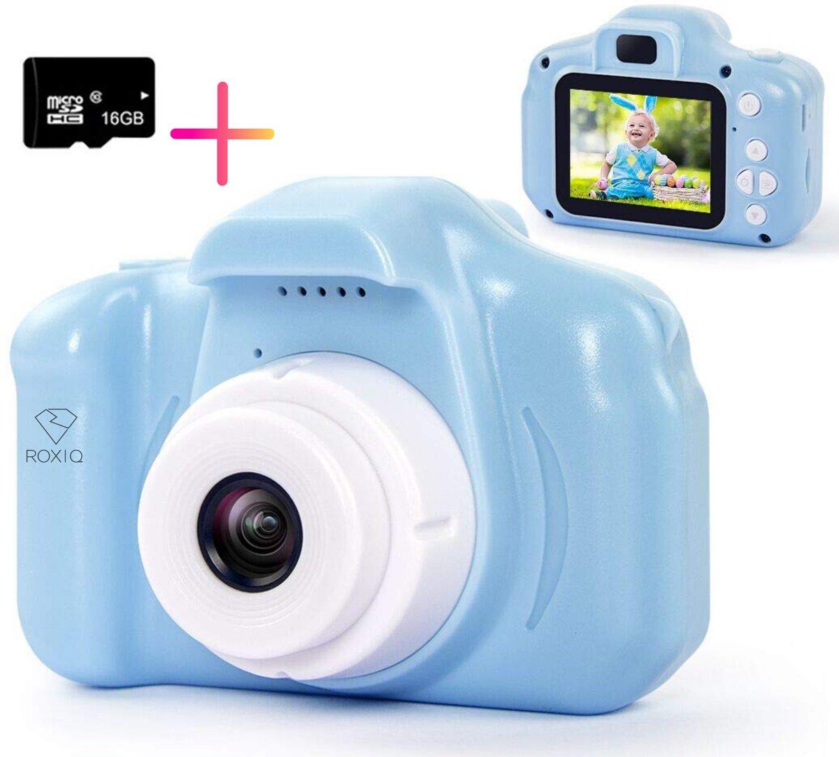 Roxiq kinder camera KC1 blauw � Digitale camera � 1080P HD � Fototoestel voor kinderen