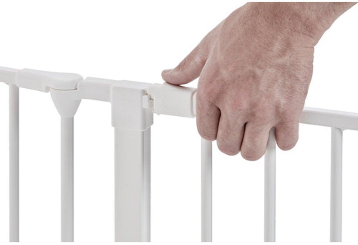 BabyDan Flex LOS Deurtje Extra hoog 105 cm Wit kopen