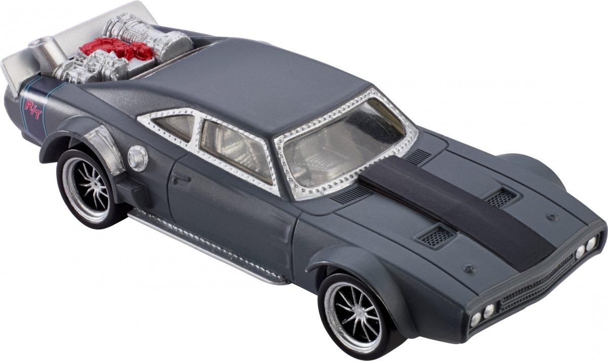 Mattel Fast & Furious: Ice Charger Auto Grijs 9 Cm