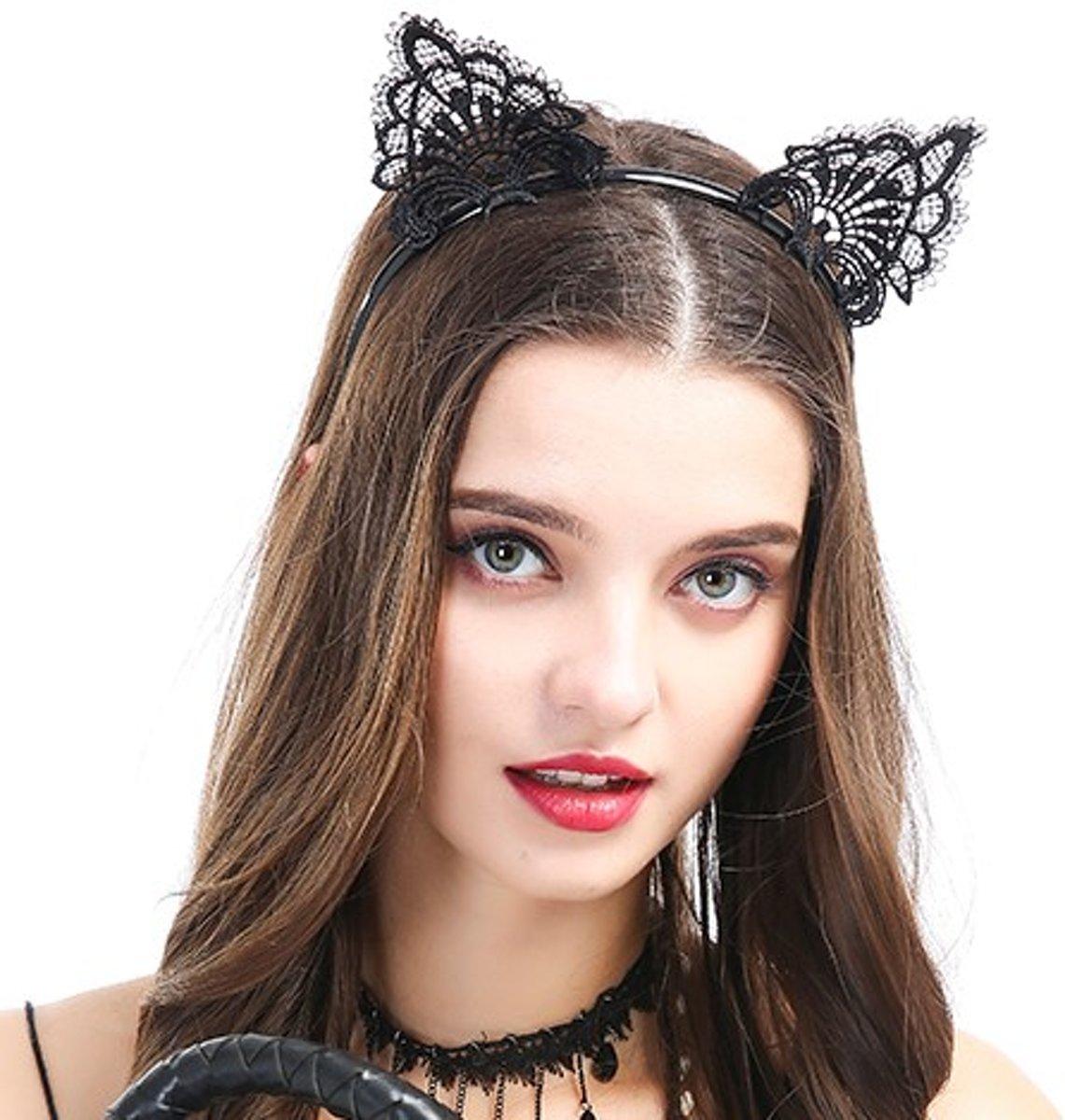 Foto van Banoch | motif obscur fantastique - diadeem kattenoren zwart