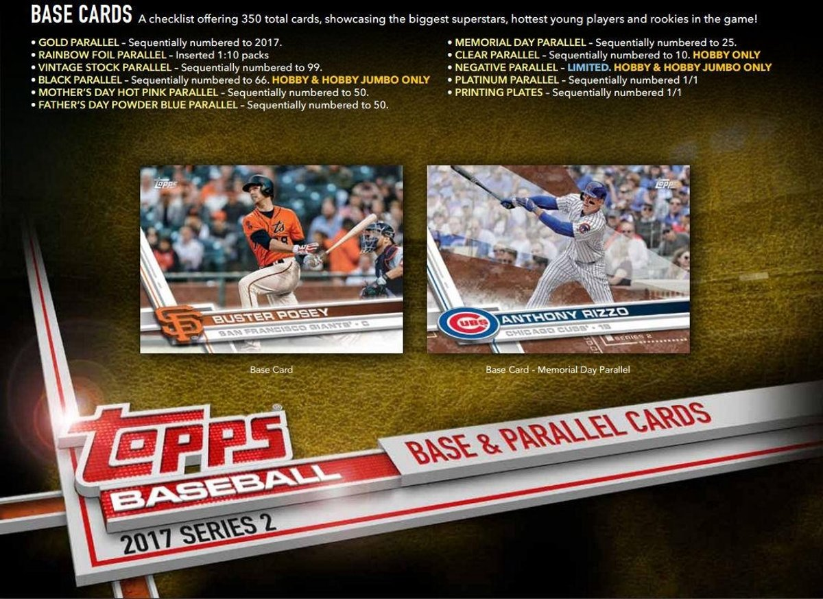 2017 TOPPS SERIES 2 MEMORABLE MOMENTS INSERTS...Choose your card!!!!