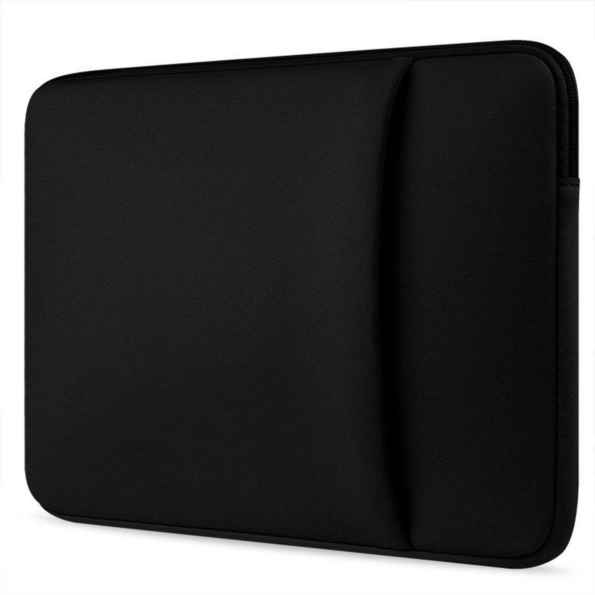 HP EliteBook hoes - Neopreen Laptop sleeve met extra vak - 14 inch - Zwart kopen