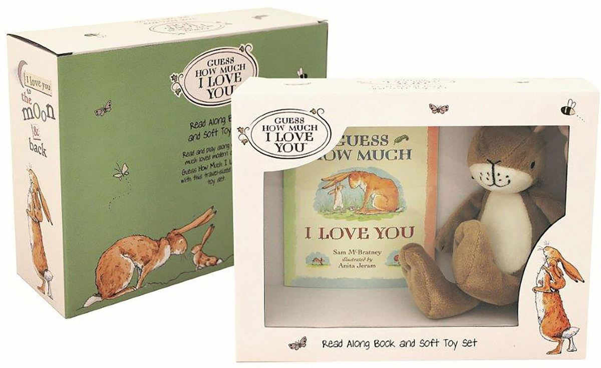 Rainbow Designs Guess How Much I Love You Book and Soft Toy Set