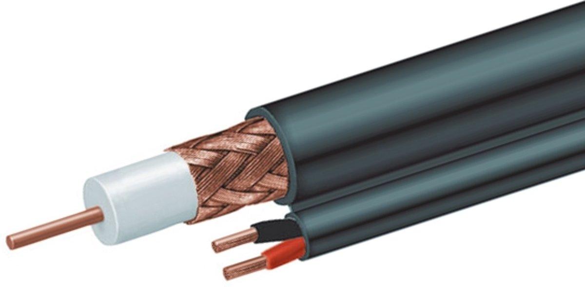 CablExpert CCP-RG59D-001-300M - Coax-kabel, voeding + signaal, op rol kopen
