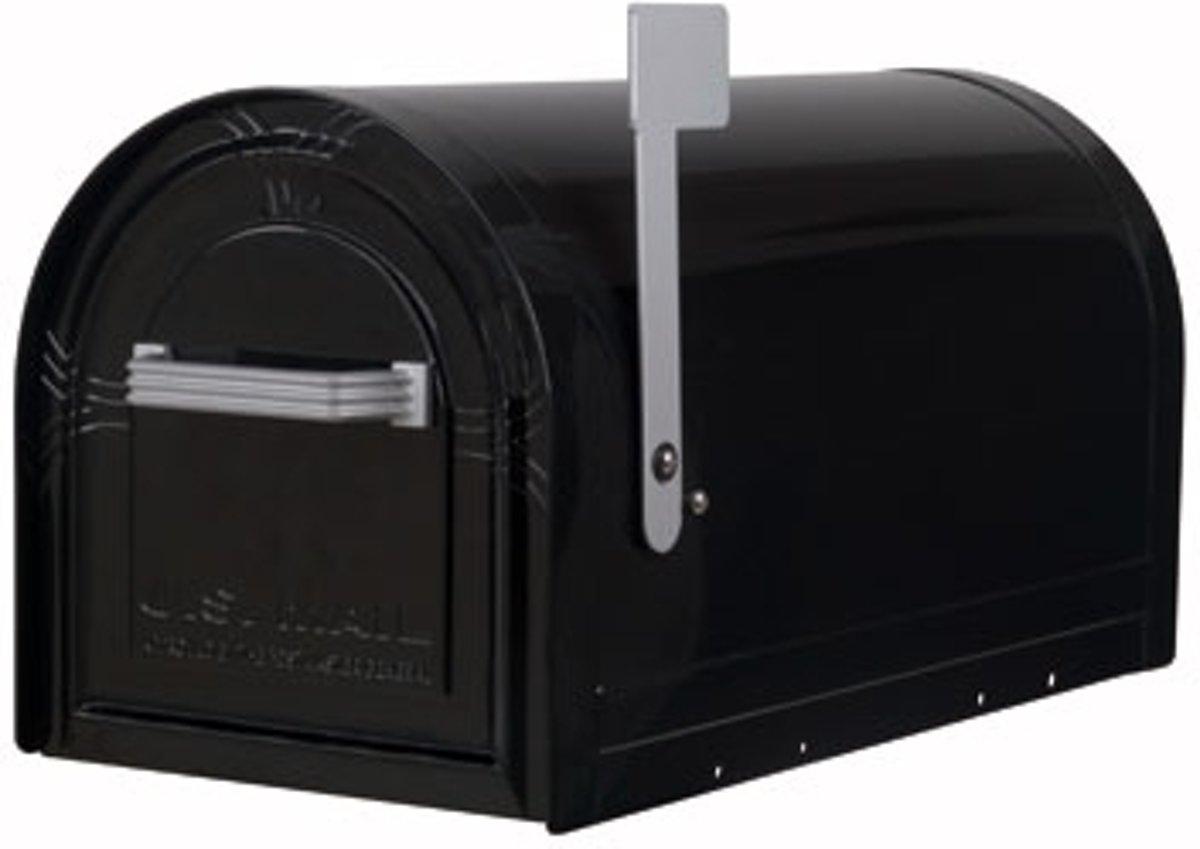 Amerikaanse brievenbus Wyngate,MET SLOT, zwart