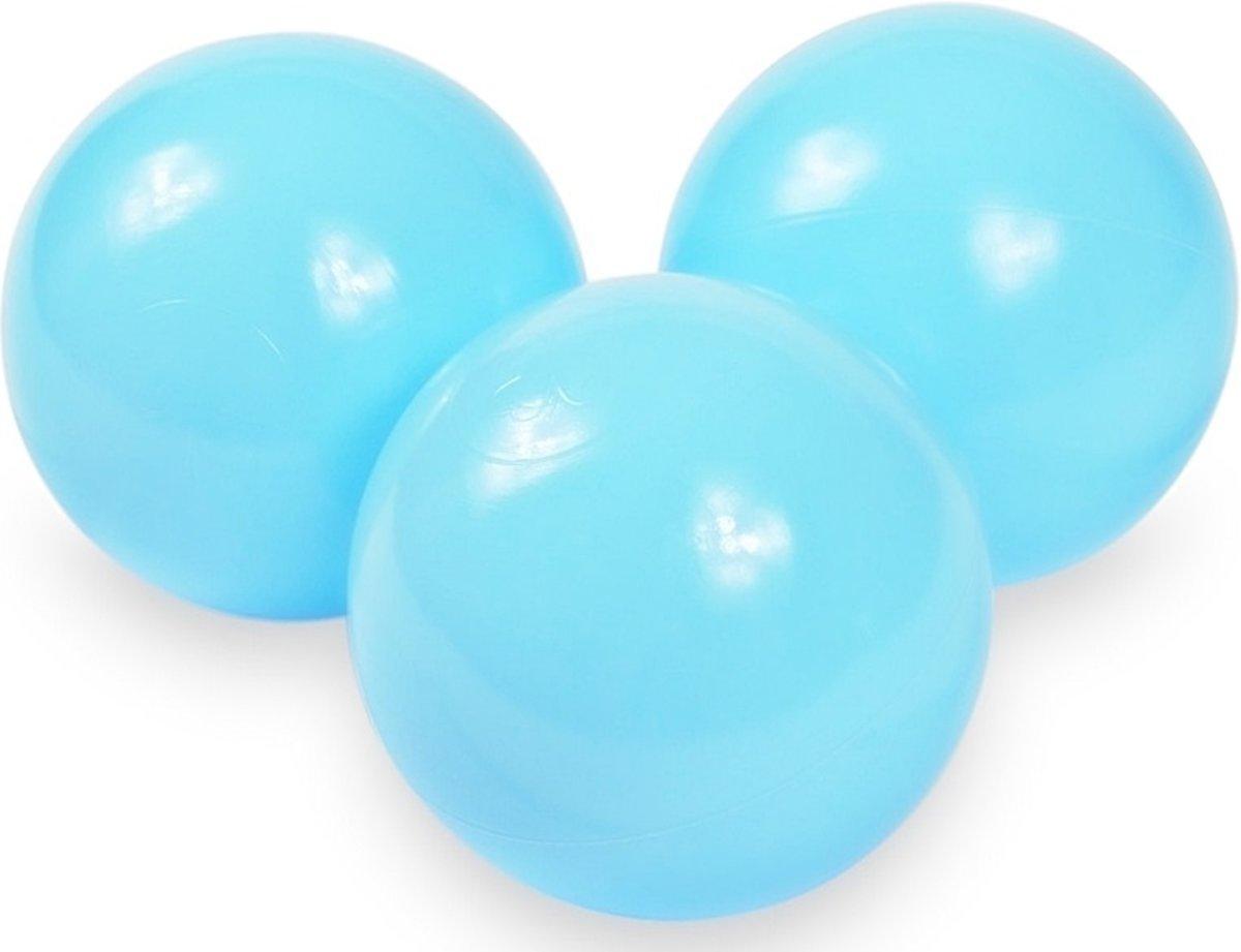 Ballenbak ballen baby blauw (70mm) voor ballenbak 300 stuks