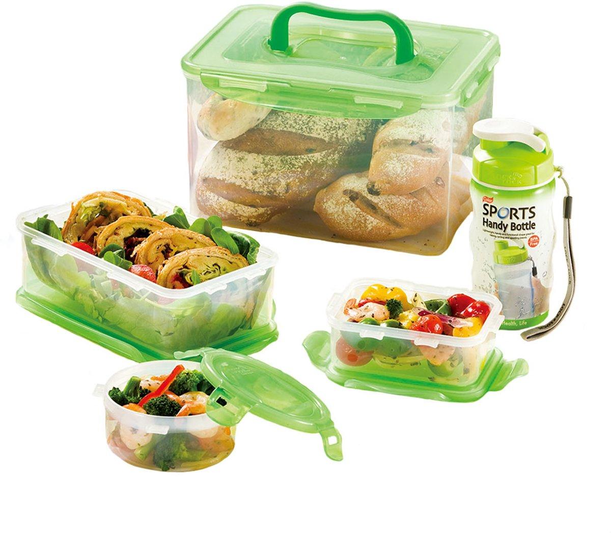 Lock&Lock Vershoudbox Food To Go - Set van 5 Stuks voor €10,80 dmv code