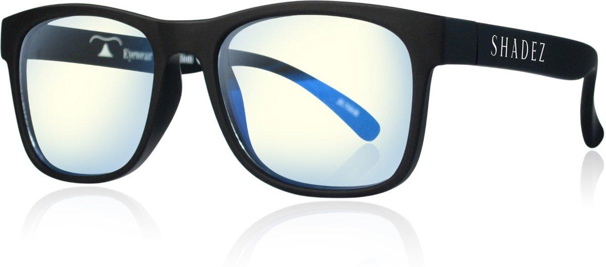 Beeldschermbril voor kinderen - Gamebril kind - Computerbril met blauw licht filter - Shadez Blue Light - Zwart montuur - Maat 3-7 jr kopen