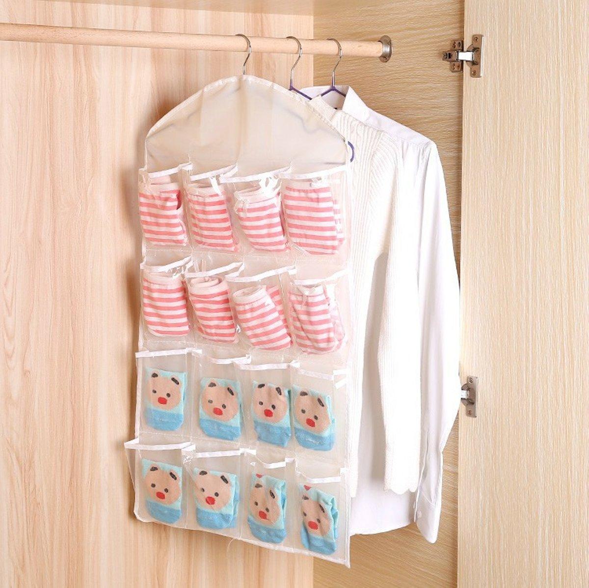Ophangbare organizer / Tentorganizer - Handige organizer voor al uw kledingstukken - Gebruiken om kleding, portomennees, sleutels en andere kleine voorwerpen op te bergen. kopen