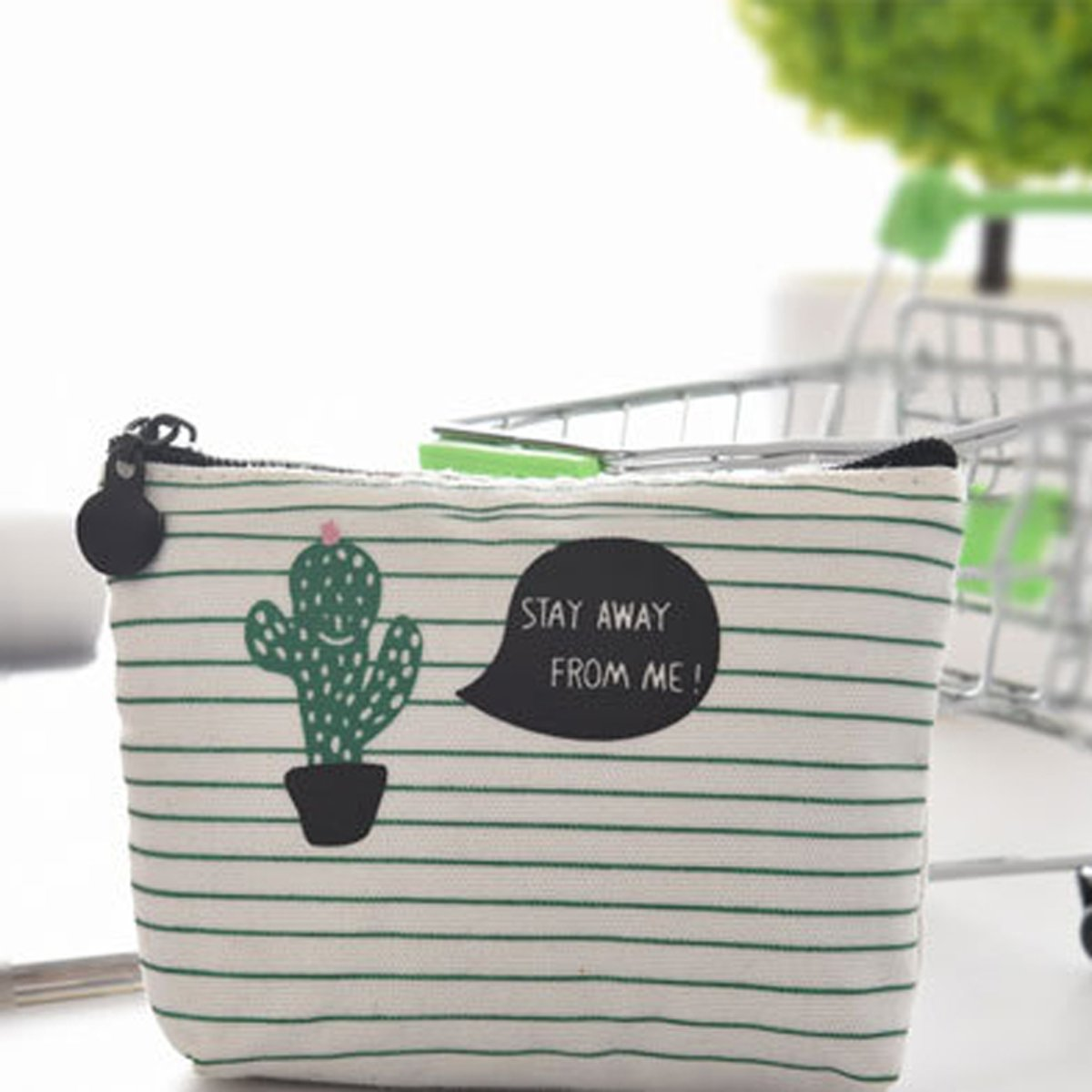 Trendy Portemonnee.Top Honderd Trendy Portemonnee Cactus Canvas Portemonne Kleine