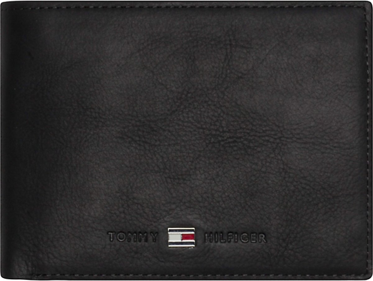 cfc19cc462d ... Tommy Hilfiger - Johnson - CC and coin pocket heren portemonnee - Black  - Tommy Hilfiger ...