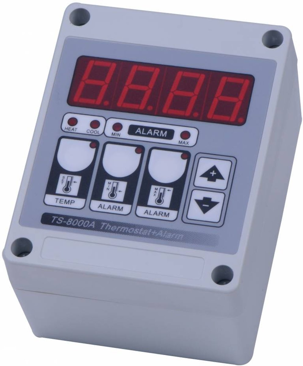 Digitale thermostaat met alarm - spat waterdicht
