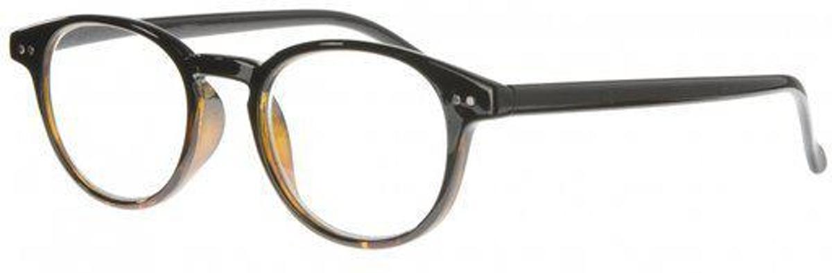 Icon Eyewear QCB003 Boston Leesbril +2.00 - Zwart, tortoise uitloop kopen
