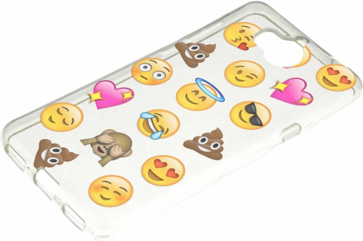 Emoji Cas Smiley Tpu Pour Huawei Y 6 (2017) tjzTS