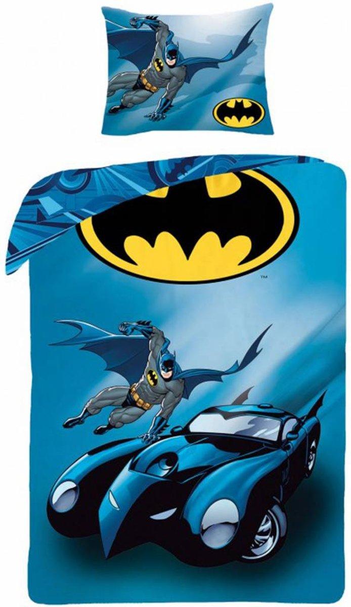 Batman Batmobile - Dekbedovertrek - Eenpersoons - 140 x 200 cm - Blauw kopen