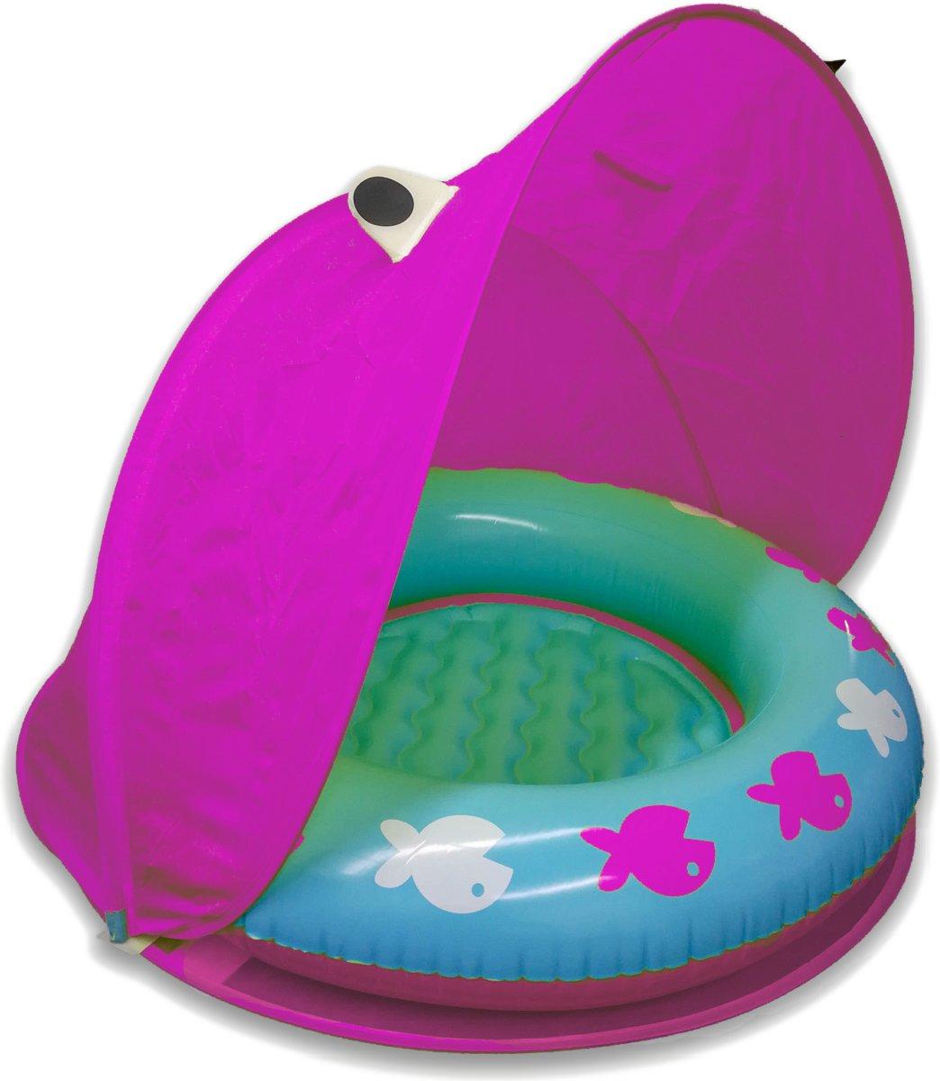 Opblaasbaar Roze Babyzwembadje met UPF 40 Zonbescherming – Vanaf 18 Maanden