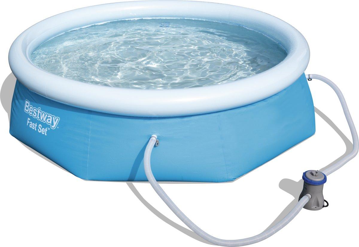 Bestway Fast Met Filterpomp Rond 244 cm Blauw - Opblaas zwembad