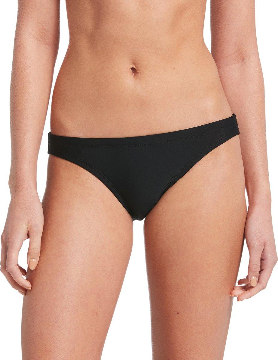Nike Swim Bikini Bottom Dames Bikinibroekje - Black - Maat M