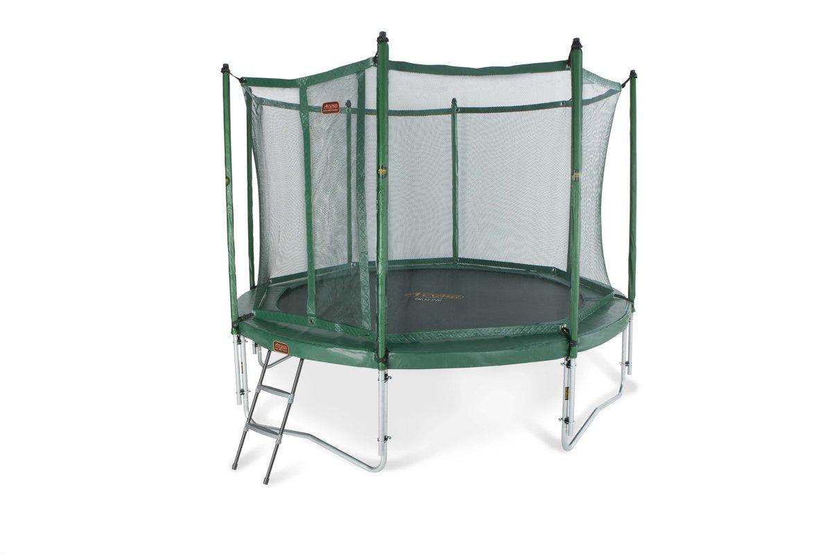 Avyna trampoline PRO-LINE 12 + net boven + ladder - groen