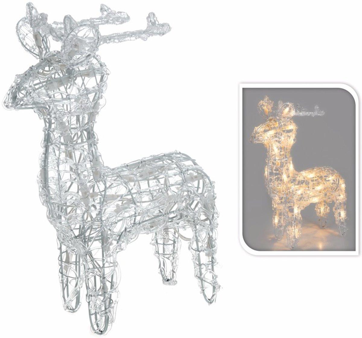 bol.com | Kerstverlichting rendier / hert op LED lampjes 45 cm