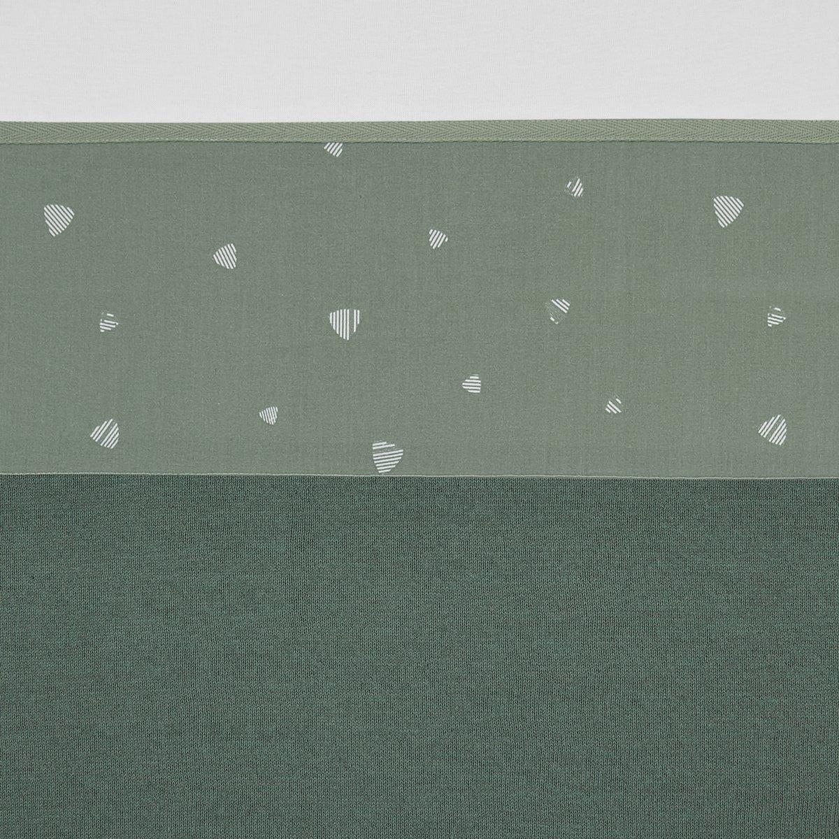 Meyco wieglaken Sweet triangle - 75x100 cm - stone green