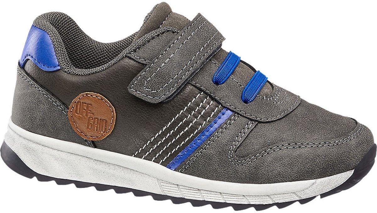 Bobbi-Shoes Kinderen Grijze sneaker klittenbandsluiting - Maat 27 kopen