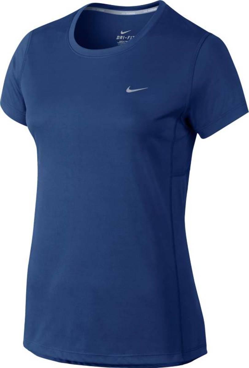 Nike Miler 686911 455 Sportshirt Vrouwen Blauw Maat S