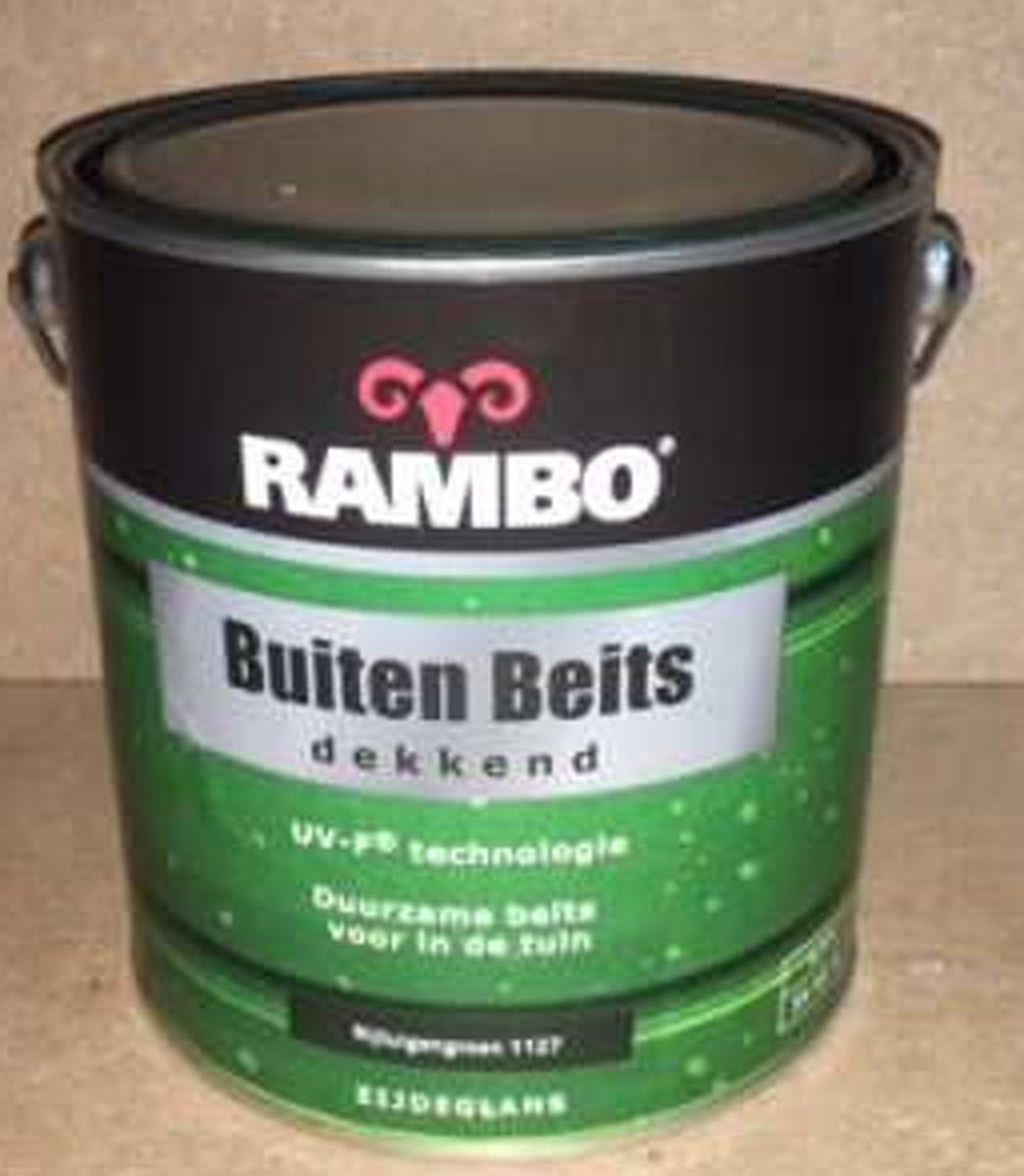 Rambo buitenbeits dekkend rijtuigengroen 1127 zijdeglans 2,5 l