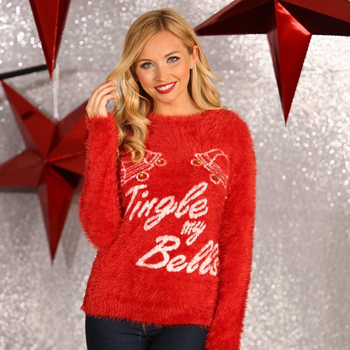 Kersttrui Maat L.Kerstmis Trui Kerst Trui Voor Vrouwen Met De Ondeugende Tekst
