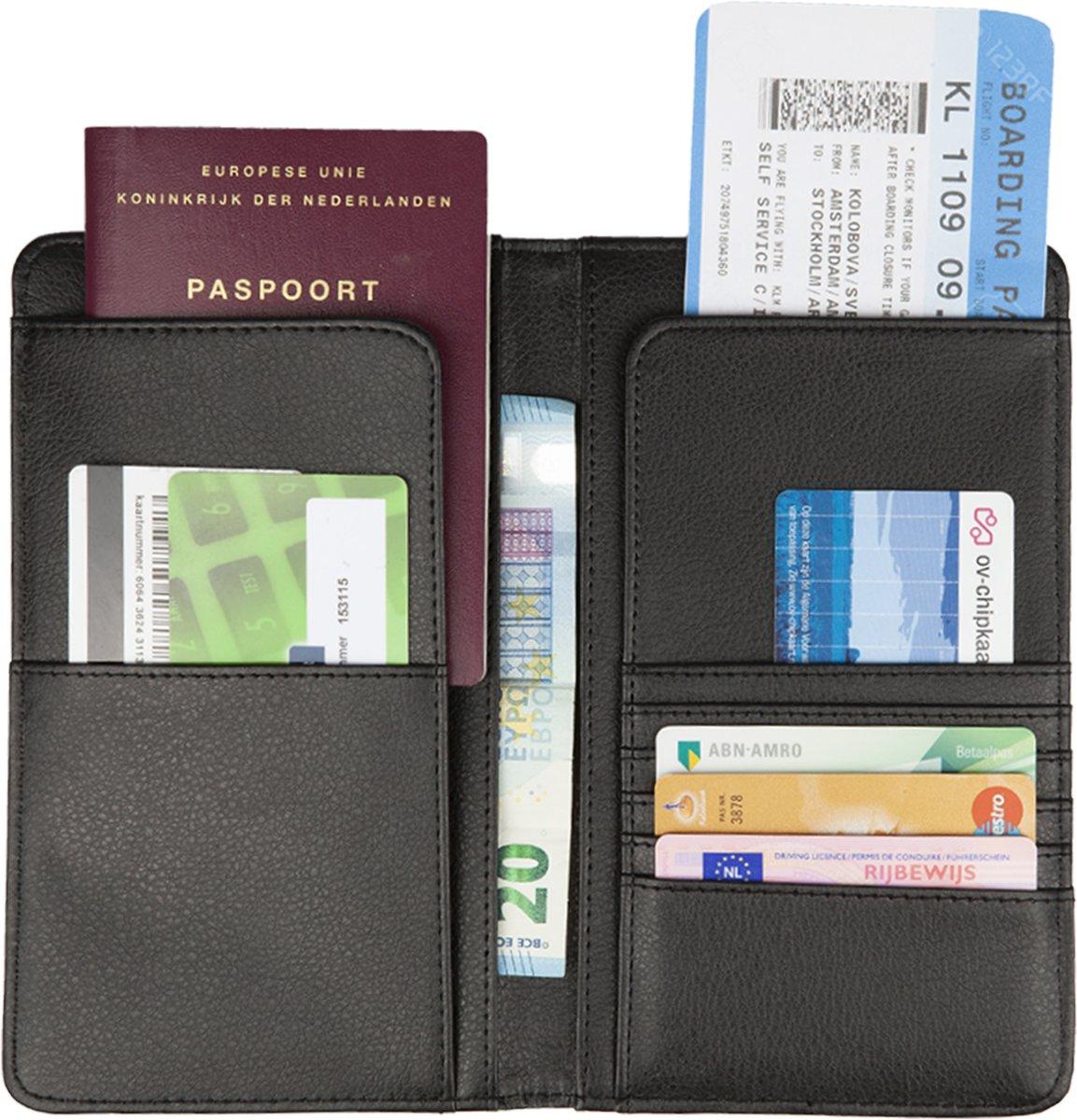 Creditcard Portemonnee Leer.Top Honderd Travelsky Luxe Reis Portemonnee Leer Creditcard