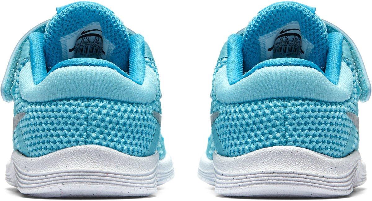 Nike Révolution 4 (tdv) Chaussures De Sport - Taille 21 - Mixte - Bleu Clair / Blanc Fdbppp